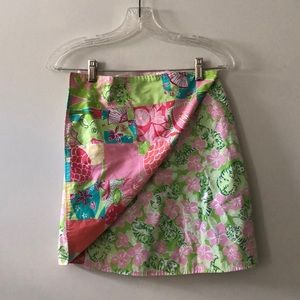 Lilly Pulitzer REVERSIBLE wrap skirt